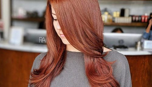 Red Hair Coloring and Cut