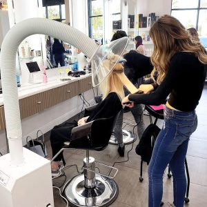Chemical Capture Keratin Treatment on Blonde Hair
