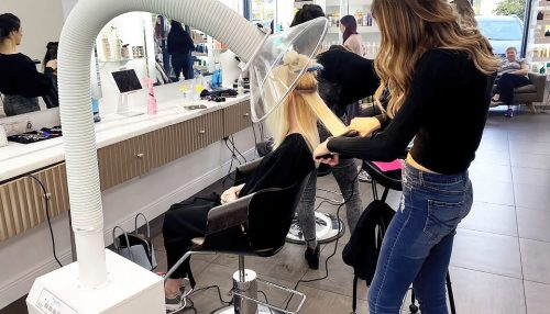 Chemical Capture Keratin Treatment on Blonde Hair