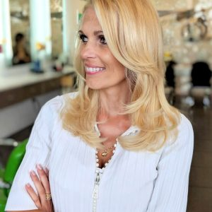 Enzyme Blowout Treatment on Blonde Hair