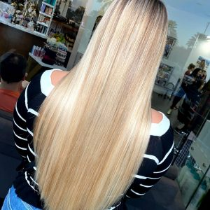 Keratin Hair Taming System on Blonde Hair