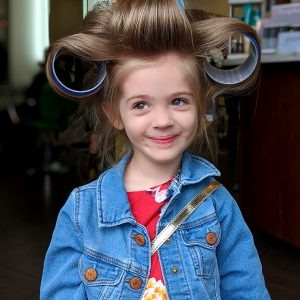 Kids Haircut and Updo on Blonde Hair