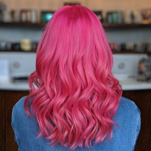 Pink Hair Mid Length