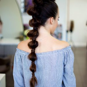 Ponytail Updo on Brunette