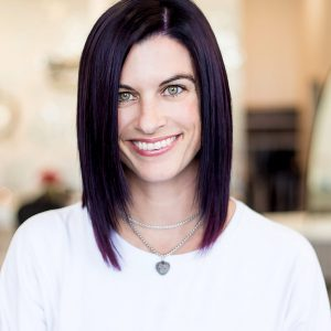 Short Tape-In Hair Extensions on Black and Purple Hair