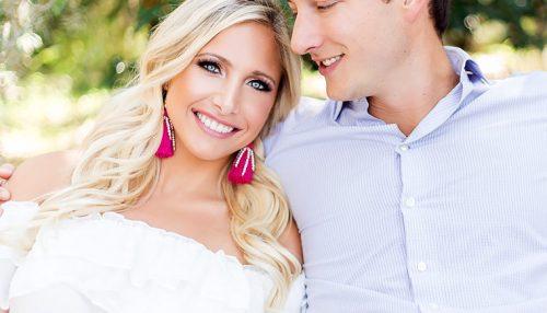 Soft Wedding Makeup and Wavy Blonde Hair