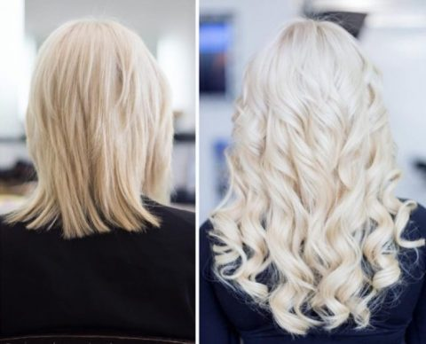 Blonde Hair Extensions - Before and After 3