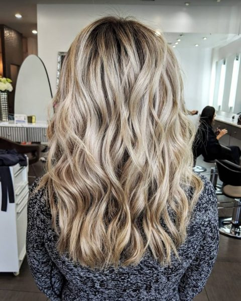 Blonde Highlights and Hair Extensions