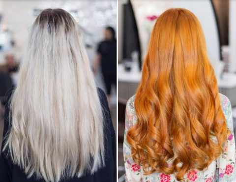 Hair Coloring - Before and After 2