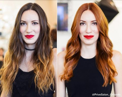 Hair Coloring - Before and After