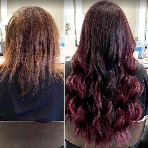 Hair Extensions - Before and After