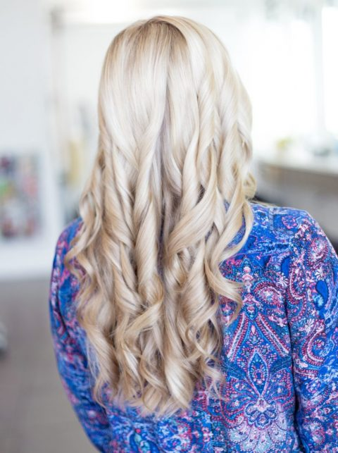 Wavy Platinum Blonde Hair Extensions